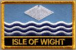 Isle of Wight Embroidered Flag Patch, style 09.